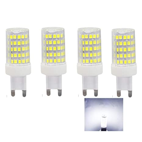 Bombillas LED 10W G9,equivalente a Lámparas Halógenas 80W,86x SMD2835,6000K Blanco
