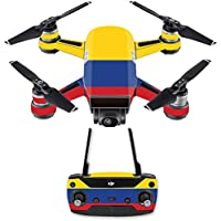 Skin for DJI Spark Mini Drone Combo - Colombian Flag| MightySkins Protective, Durable, and Unique Vinyl Decal wrap cover | Easy To Apply, Remove, and Change Styles | Made in the USA