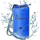 WolfWise 20L Waterproof Dry Bag Backpack Sack for Kayaking, Rafting, Boating, Camping, Beach, Fishing, Hiking, Hunting