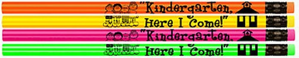 Kindergarten, Here I Come Pencils! 144 Assorted Neon Pencils Per Box