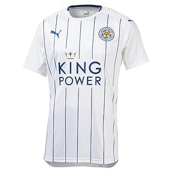 Puma Leicester City - Camiseta de manga corta (2016-2017), Hombre, color blanco, tamaño small: Amazon.es: Deportes y aire libre