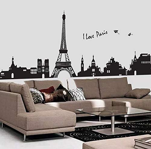 YChoice Well-Made Personality Eiffel Tower Bedroom Living Room Wall Sticker