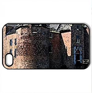 Ammersoyen Castle - Case Cover for iPhone 4 and 4s (Medieval Series, Watercolor style, Black)