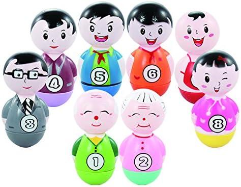 ダルマ大家族 おきあがりこぶし 知育 幼児 赤ちゃん おもちゃ 学習玩具