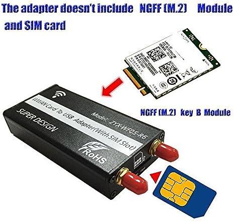 Hobbypower WWAN NGFF (M.2) al Adaptador USB con Ranura para ...