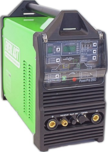 Everlast PowerPro 256D Digital ACDC Tig Stick Pulse Plasma Cutter Multi Process Welder, Green
