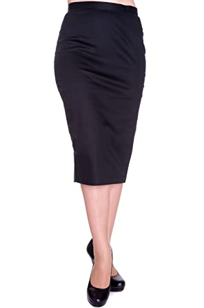 Hell Bunny Frankie Pencil Skirt - Black (4XL) at Amazon Women s ... 4f706be83