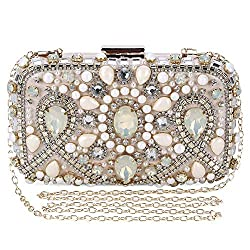 Elegantly Beaded Rhinestone Crystal Clutches for Women