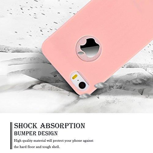 3 x Etui iPhone SE, Etui iPhone 5S, SpiritSun Etui Coque TPU Slim Bumper pour Apple iPhone SE / 5 / 5S Souple Housse de Protection Flexible Soft Case Cas Couverture Anti Choc Mince Légère Silicone Cov