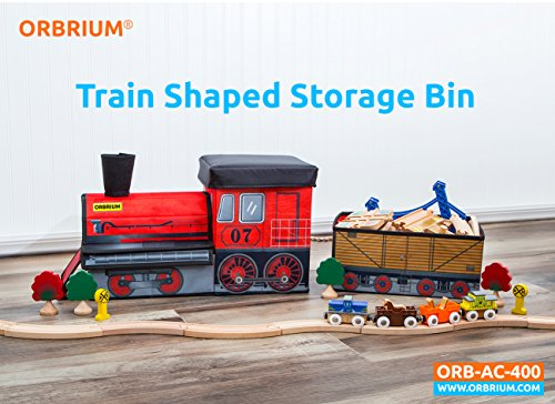 Orbrium Toys Train Shaped Collapsible Toy Storage Bins Organizer For Thomas  Wooden Train And Trackmaster, Etc.   Fancy Danielu0027s Toys, Games, ...