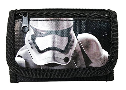 Disney New Star Wars The Force Awaken Storm Tropper Tri Fold Wallet - Black - http://coolthings.us