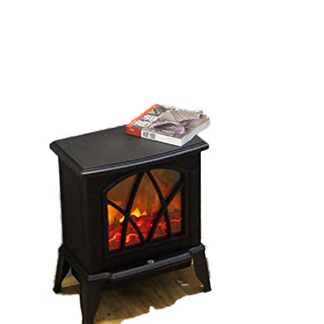 Fayoo Electric Fireplace Chimenea Eléctrica Autosoportada Calentador Estufa De Leña Registro Quemador Efecto Llama con Control