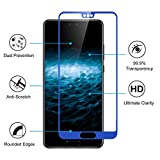 Huawei P20 Pro Screen Protector, Rosa Schleife [2 Pack ] 9H Hardness 2.5D Full Coverage HD Clear Tempered Glass Screen Protector Film Anti-Shatter Bubble-Free Installation for Huawei P20 Pro - Blue