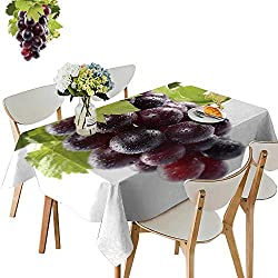 UHOO2018 Eco-Friendly and Safe Grape, Fruit, Vine Square/Rectangle Multi Colors & Sizes,52 x 716inch