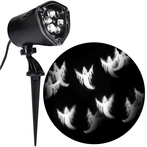 Strobing LightShow LED Halloween Chasing White Ghosts Strobe Spotlight Whirl-a-Motion