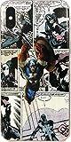 ECHC TPU Flexible Comic Book Superhero Case for iPhone (Captain America, iPhone X)
