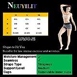 NEUYILIT Women's Bandeau Bra, Solid Color Active