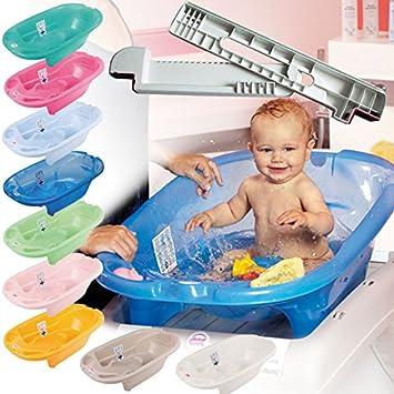 Okbaby Babybadewanne Onda mit Wannenstangen Wannenaufsatz SET Farbe gr/ün