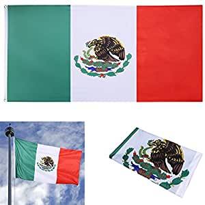 New 3 x 5 Ft National Mexico Flag Indoor Outdoor Polyester Banner Grommets