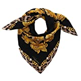 Roberto Cavalli C3602C840 527 Black Jewel Scarf for womens