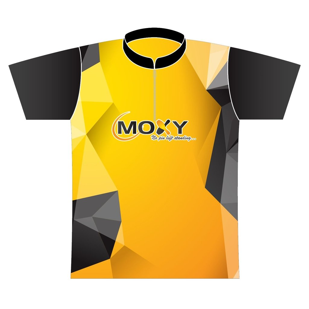 Moxy Dye-Sublimated Jersey- Polygon (Mens Medium, Yellow/Black/Gray)