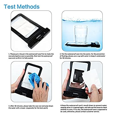 """Universal Waterproof Case - TURATA Waterproof Case Cell Phone Dry Bag for iPhone 6/6s, 6 Plus/6s Plus, 5/5s, Samsung Galaxy S7/S7 Edge, S6 Note 5 4, HTC LG Sony Nokia Motorola up to 6.0"""" diagonal by TURATA"""