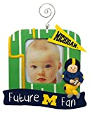 Michigan Wolverines Official NCAA 5 inch x 5 inch Future Fan Photo Frame Christmas Ornament by Evergreen 166938