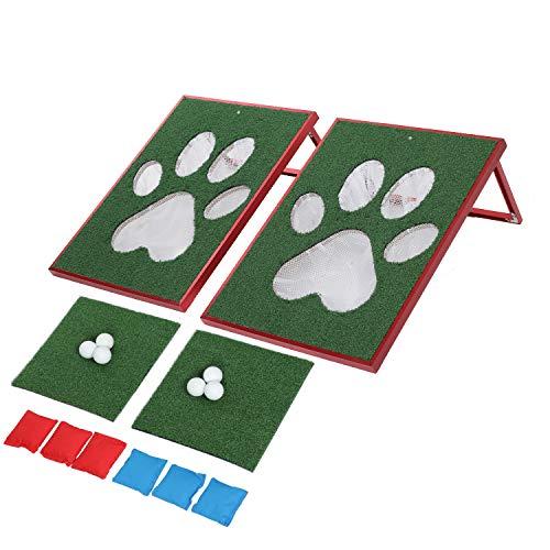TIANNBU Cornhole Set Golf Chipping Game Cornhole Bean Bag Toss Board, Gift for Christmas, Birthday, Party, Gift Idea for Cornhole, Golf Lover