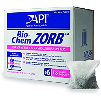 API BIO-CHEM ZORB SIZE 6 Aquarium Canister Filter Filtration Pouch 18-Count Bag