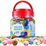 Water Beads, iFergoo 10 oz (48000 Beads) Crystal Water Gel Bead Pearls for Vase Filler, Spa Refill, Sensory Toys, Colorful Décor & Outdoor Play