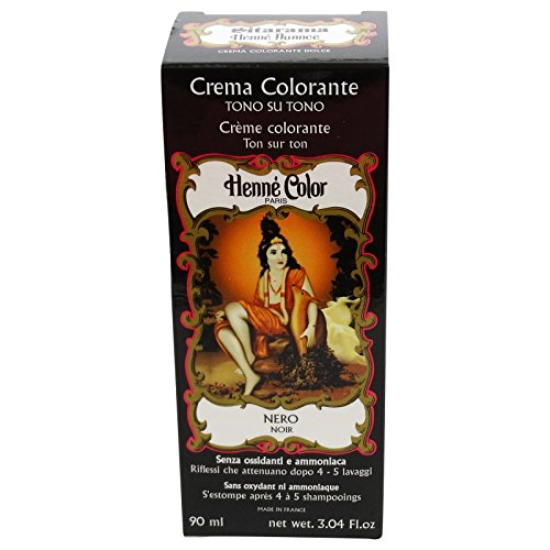 SITARAMA Henné Color - Henna Colouring Cream - Black - Free from oxidants, ammonia, p-phenylenediamine (PPD), resorcinol, synthetic fragrances, and heavy metals ()