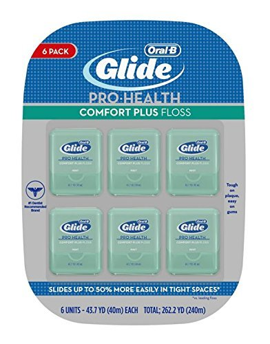 Oral-B Glide Pro-Health Deep Clean Dental Floss, Cool Mint, 40m, Pack of 3 (Packaging May Vary) Procter and Gamble