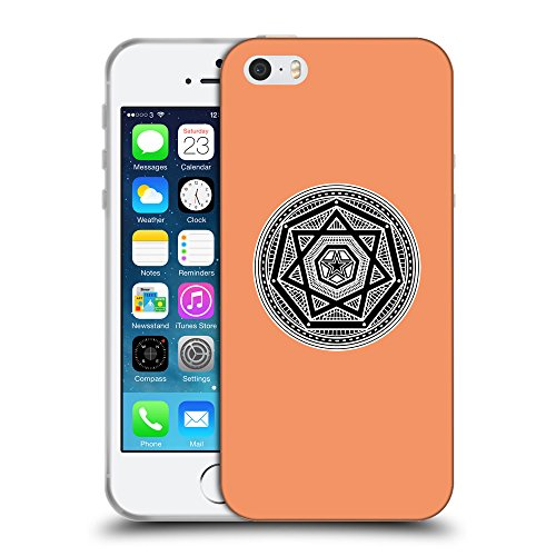GoGoMobile Coque de Protection TPU Silicone Case pour // Q08240607 Mystique occulte 3 Mandarine // Apple iPhone 5 5S 5G SE
