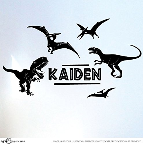 Amazoncom STICKTAK STICKERS Custom Name Dinosaur Jurassic Park - Custom vinyl wall decals dinosaur