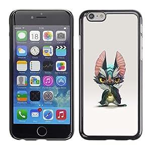 """For Iphone 6/6S (4.7 INCH) Case , Monstruo lindo oídos grandes Gris Arte de la historieta"""" - Diseño Patrón Teléfono Caso Cubierta Case Bumper Duro Protección Case Cover Funda"""