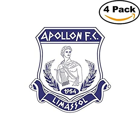 Apollon limassol cyprus soccer football club fc 4 stickers car bumper window sticker decal 4x4