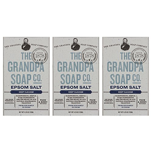 - The Grandpa Soap Company Grandpa brands co. - epsom salt and baking soda bar soap - 4.25 oz (3-pack)
