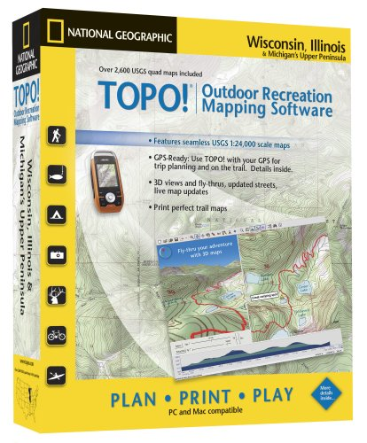 TOPO! National Geographic USGS Topographic Maps (Wisconsin, Illinois, and Michigan)