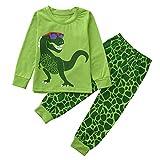 Little Kids Dinosaur Pajamas Sets,Jchen(TM) 2PCS Children Kids Little Boys Girls Dinosaur Print Long Sleeve Tops+Long Pants Home Wear Outfits for 1-5 Y (Age: 2-3 Years Old)