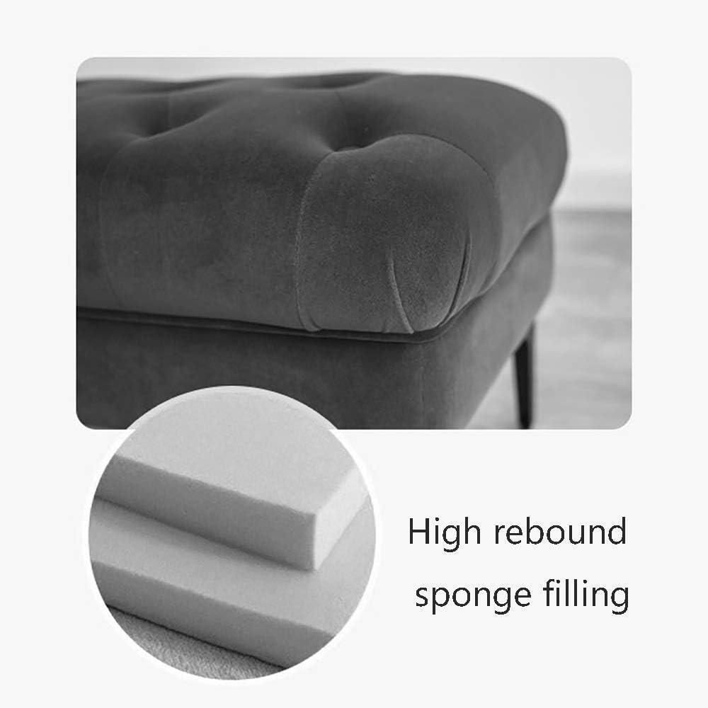 Colore: Beige Dimensioni: Long100cm POETRY Cambiando Le Sue Scarpe Sgabello poggiapiedi di Velluto di Fronte alla casa delle panche di Legno semplici a Riposo Europeo