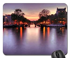 Amsterdam by night Mouse Pad, Mousepad