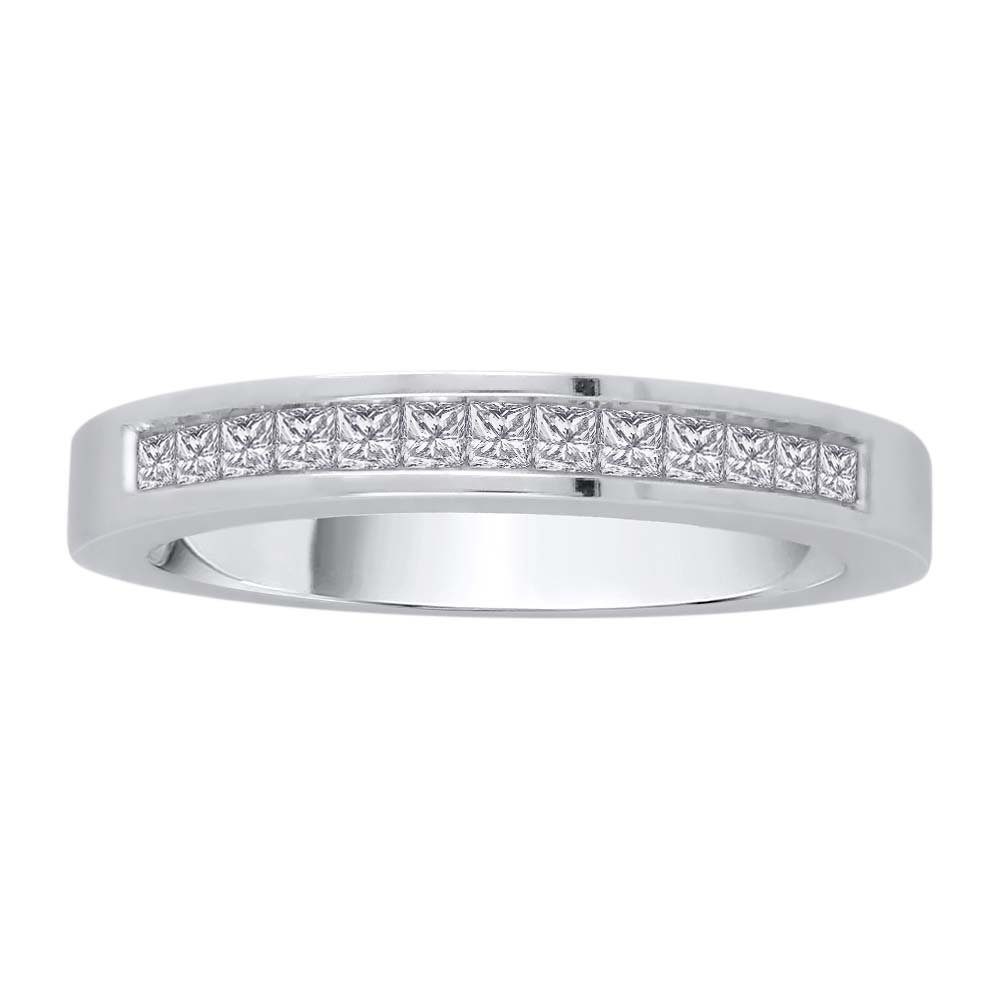 Princess Cut Diamond Eternity Wedding Band in Sterling Silver (1 3/4 cttw)(Color-GH, Clarity-VSSI) (Size-4)