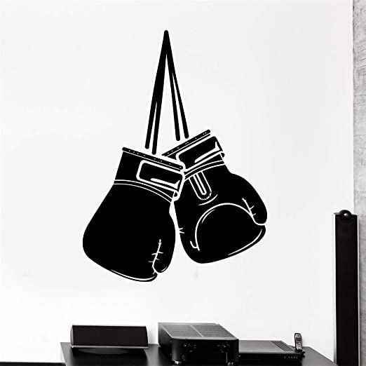 Ajcwhml Vinilo Decorativo de Boxeo, Guantes de Boxeo, Artes ...