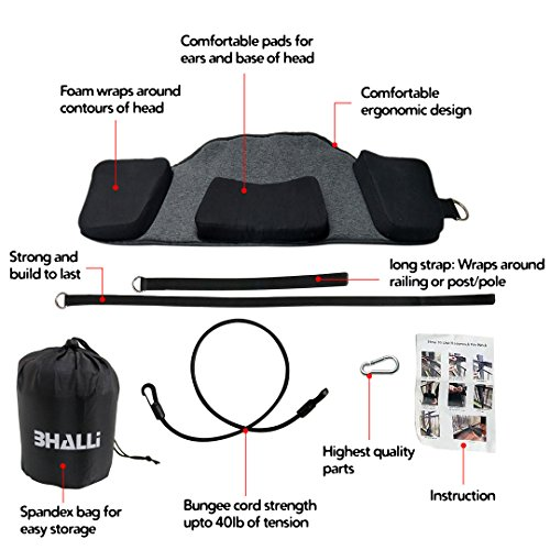 Neck Hammock by BHALLI - Get Natural & Effective Relief from Chronic Neck Pain - Attach This Cervical Traction Device to Any Door/Railing for Instant Results - Affordable Neck Stretcher Support by BHALLI (Image #2)