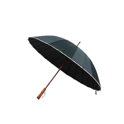 bpblgf Paraguas con Mango Largo 24 Paraguas Vertical Paraguas – - Nuevo Enrejado Paraguas Negocios Viento