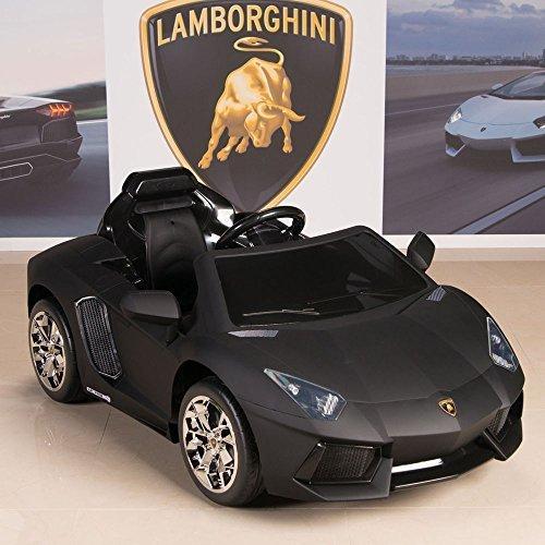 Lamborghini Aventador 12V Kids Ride On Battery Powered Wheels Car RC Remote Black