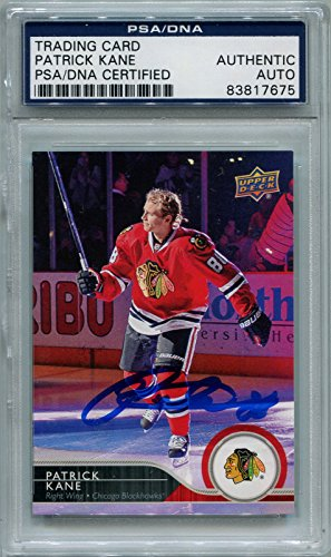 (Patrick Kane Chicago Blackhawks PSA/DNA Certified Authentic Autograph - 2014-15 Upper Deck (Autographed Hockey Cards))