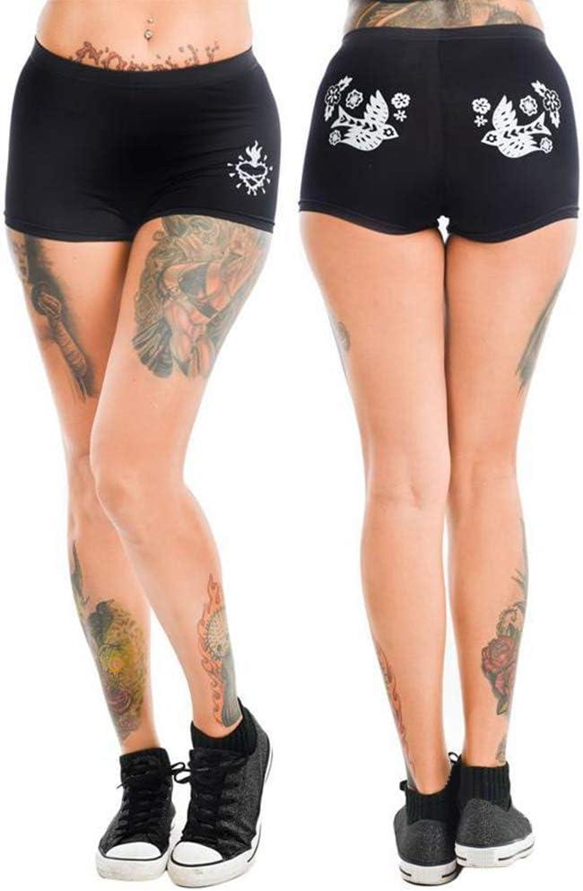 Koodred Womens Boyshort Funny Graphic Print Comfortable Cotton Boxer Panties Briefs
