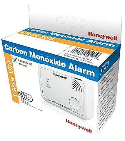 Honeywell Home XC70-ESPT Detector autónomo de CO (batería) color blanco, 106 x 47 x 77 mm: Amazon.es: Bricolaje y herramientas