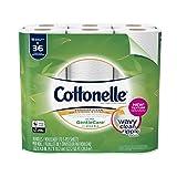 Cottonelle Ultra GentleCare Toilet Paper, 18 Double Rolls, Sensitive Bath Tissue with Aloe & Vitamin E